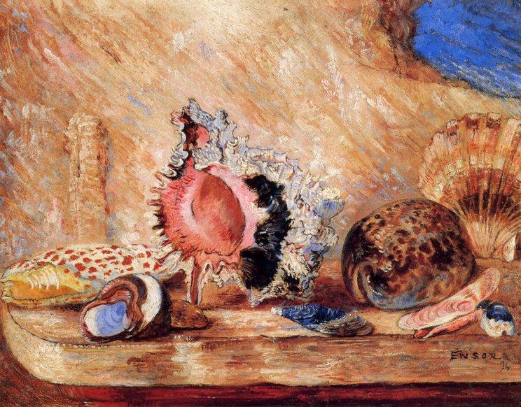 Coquillages バイ James Ensor (1860-1949, Belgium) | WahooArt.com