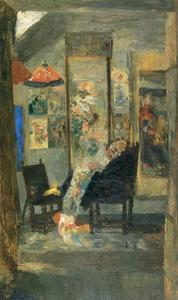 James Ensor - Squelette後ろを向いたデchinoiseries