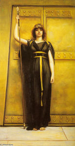 John William Godward - 巫女