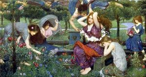 John William Waterhouse - フローラとゼファー