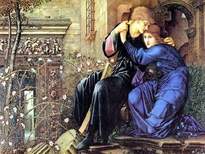 Edward Coley Burne-Jones - 愛 の間で 廃墟