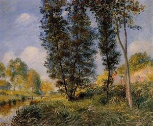 Alfred Sisley - 銀行 の Orvanne