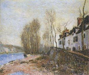 Alfred Sisley - 聖人 Mammes インチ 冬