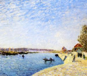 Alfred Sisley - サンMammesとロワンの銀行