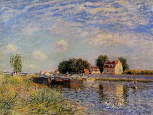 Alfred Sisley - 聖人 Mammes , アヒル キャナル
