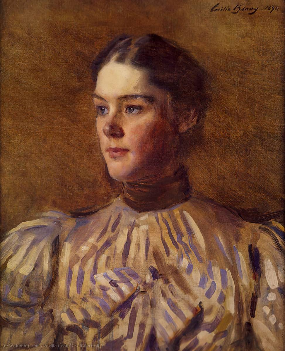 Self-Portrait 1, オイル バイ Cecilia Beaux (1855-1942, United States)