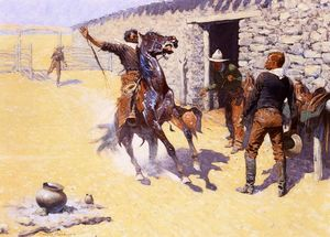 Frederic Remington - アパッチ!