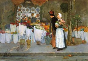 Frederick Childe Hassam - 花屋で
