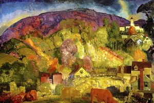 George Wesley Bellows - ザー 村 上の 丘