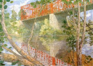 Julian Alden Weir - 赤 橋