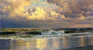 William Trost Richards - ビーチ で `atlantic` 都市