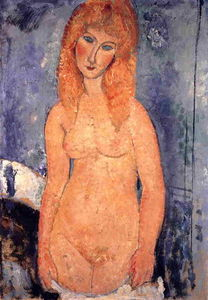 Amedeo Modigliani - 金髪ヌード