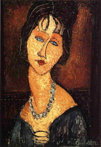 Amedeo Modigliani - ネックレスジャンヌHebuterne