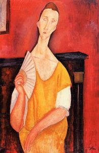 Amedeo Modigliani - ファンでLunia CzechowskaをMADAME