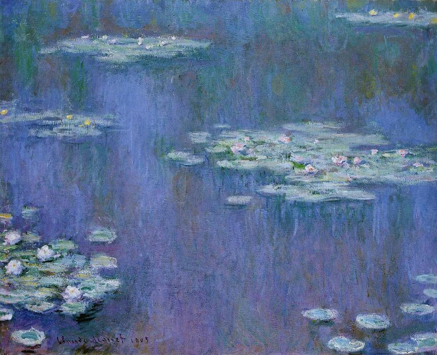 Water-Lilies 13, オイル バイ Claude Monet (1840-1926, France)