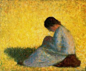 Georges Pierre Seurat - 着席女性