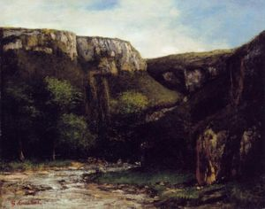 Gustave Courbet - 渓谷