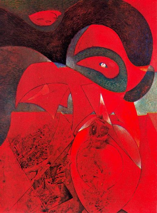 Compendioディストーリアuniversale, オイル バイ Max Ernst (1891-1976, Germany)