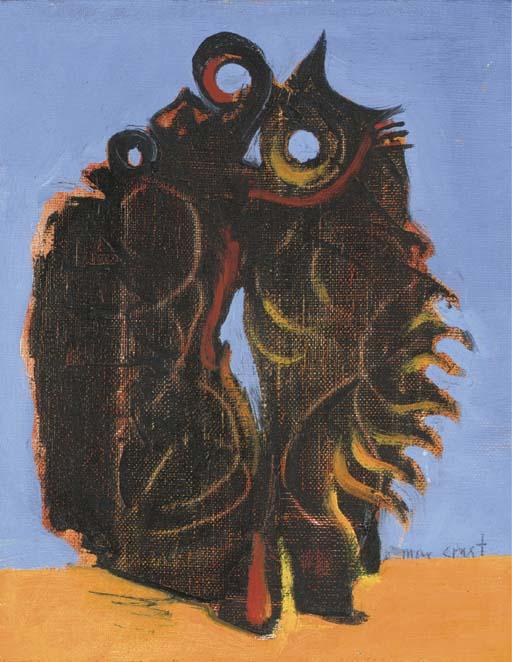 OISEAUX 1, オイル バイ Max Ernst (1891-1976, Germany)