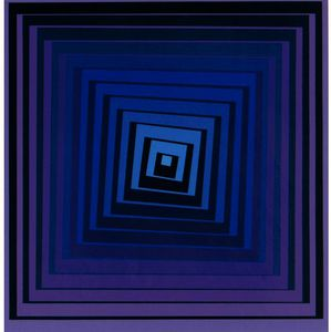 Victor Vasarely - 正方形を減少