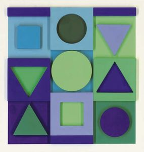 Victor Vasarely - サフィール-Positif