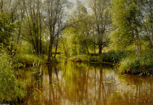Peder Mork Monsted - Alandskab私SolskinエンForarsdag