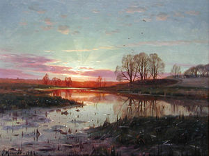 Peder Mork Monsted - 夜 Naesbyholm