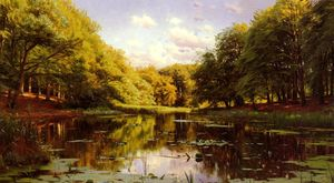 Peder Mork Monsted - 川 風景 2