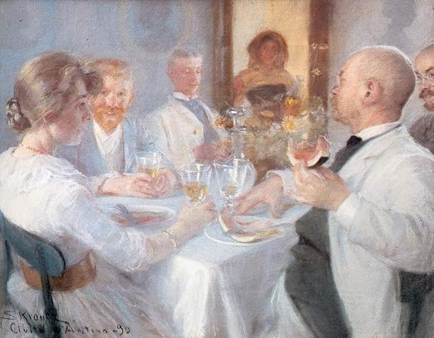 COMIDAアンAntino, オイル バイ Peder Severin Kroyer (1851-1909, Norway)