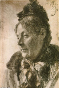 Adolph Menzel - ザー 頭 の 女性