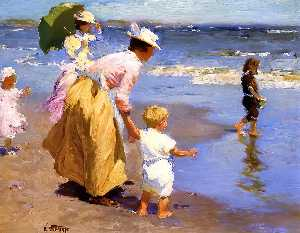 Edward Henry Potthast - で Beach 1