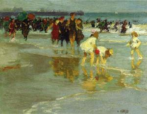 Edward Henry Potthast - 水浴びをする人