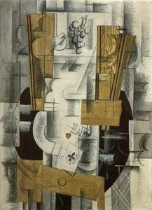 Georges Braque - クラブフルーツ皿、エース
