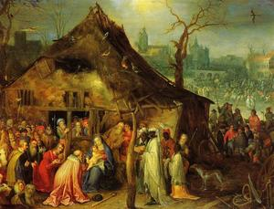 Jan Brueghel The Elder - ザー 崇拝 of マギ 1