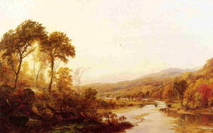 Jasper Francis Cropsey - headwaters` の ハドソン