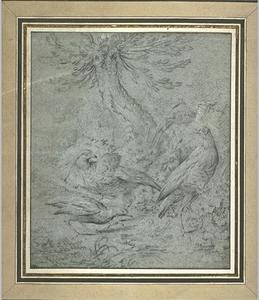 Jean-Baptiste Oudry - 四つ 鳥 近い a 木