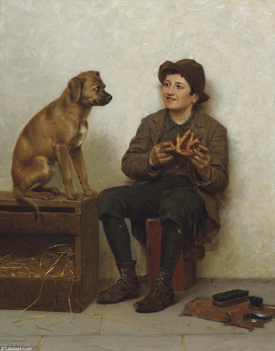 a `taste` のための パイ バイ John George Brown (1831-1913, United Kingdom)