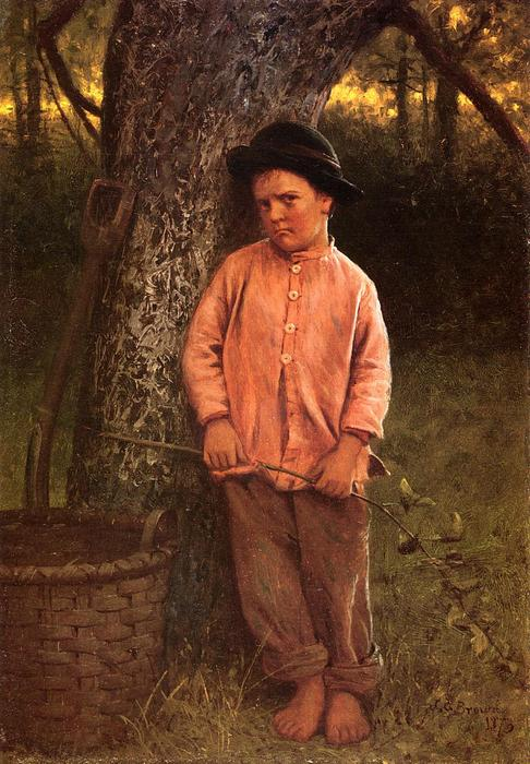 私は行きません!, 1873 バイ John George Brown (1831-1913, United Kingdom) | WahooArt.com