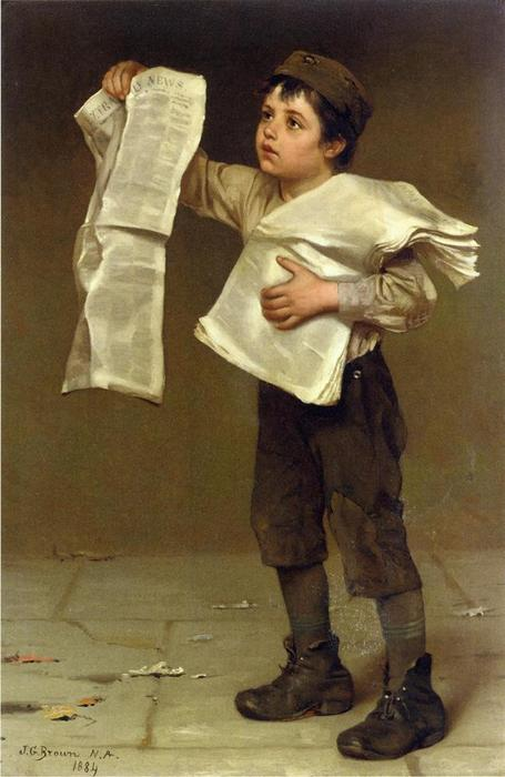 新聞売り バイ John George Brown (1831-1913, United Kingdom)