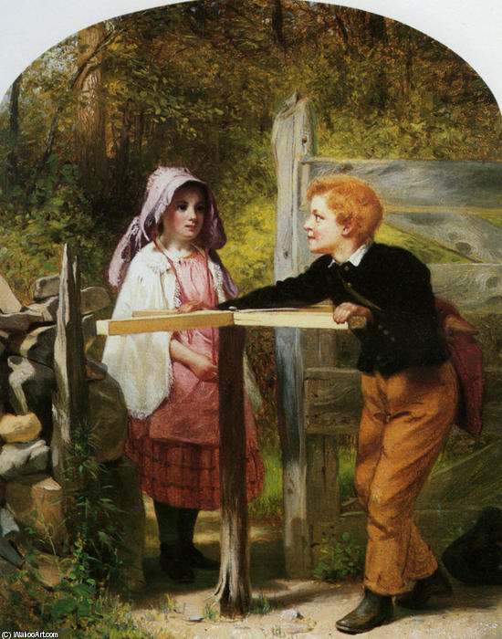 有料ダイヤル, 1862 バイ John George Brown (1831-1913, United Kingdom) | WahooArt.com
