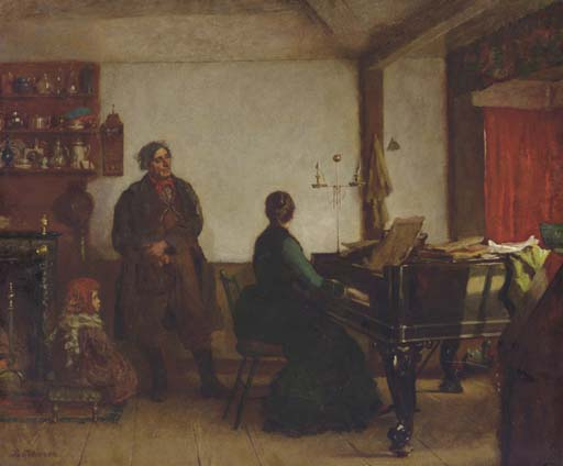 チューニング·ミーを再生 バイ Jonathan Eastman Johnson (1824-1906, United Kingdom)