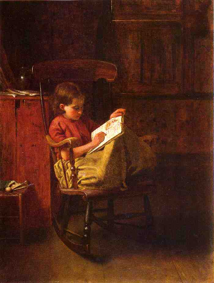 ボストンロッカー バイ Jonathan Eastman Johnson (1824-1906, United Kingdom)