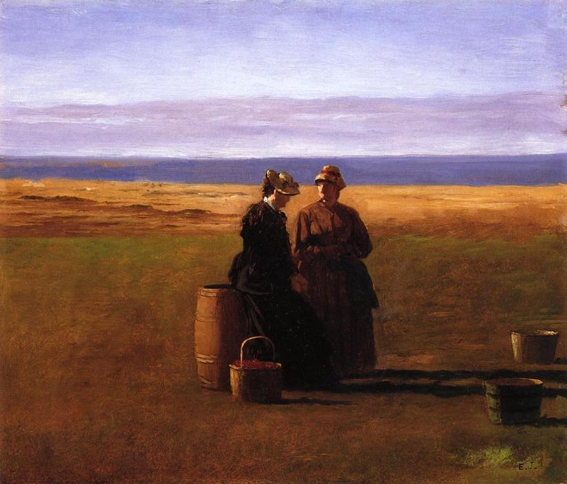 カンバセーション バイ Jonathan Eastman Johnson (1824-1906, United Kingdom)
