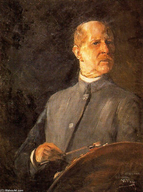 Self-Portrait 2 バイ José Villegas Cordero (1844-1921, Spain)