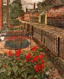 Stanley Spencer - ポンドで庭園。 Cookham