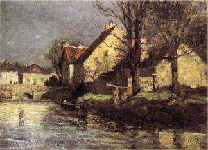 Theodore Clement Steele - 運河 , Schlessheim