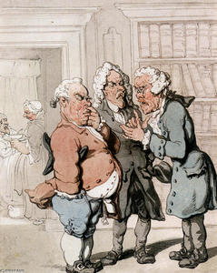 Thomas Rowlandson - 医師の相談