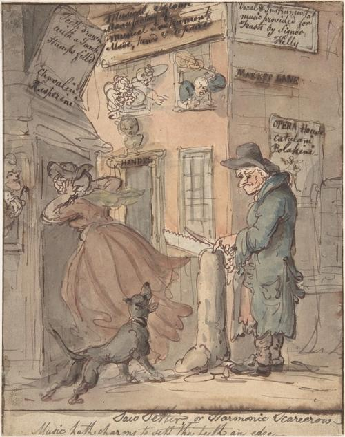のこぎりセッター バイ Thomas Rowlandson (1756-1827, United Kingdom)
