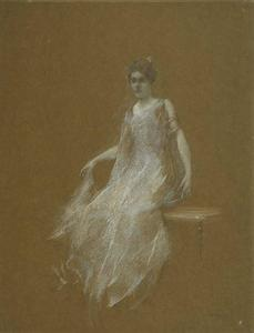 Thomas Wilmer Dewing - 女性 インチ 白 1