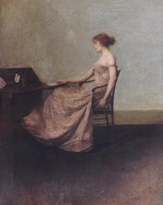 Thomas Wilmer Dewing - ザー 文字